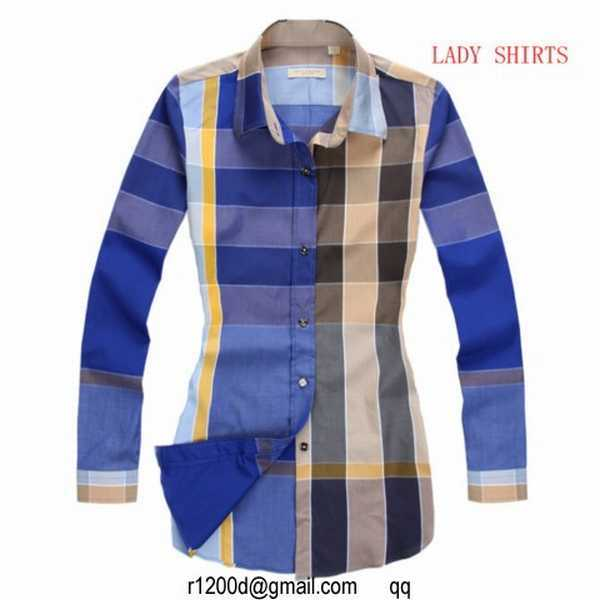 chemise burberry bleu chemises de marque degriffees chemise burberry femme manche longue pas cher. Black Bedroom Furniture Sets. Home Design Ideas